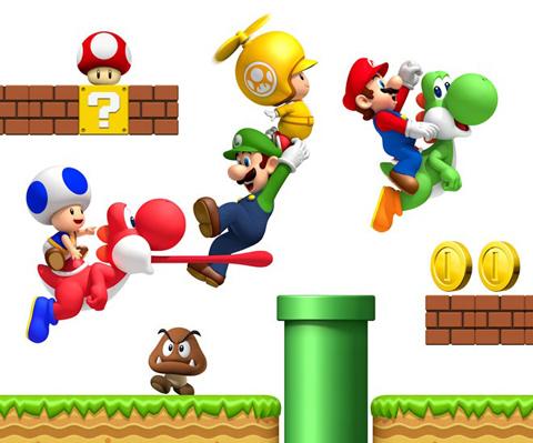 """【业界】日经新闻《New 超级马里奥兄弟 Wii》今秋发售预订!首次加入""""SKIP""""功能"""