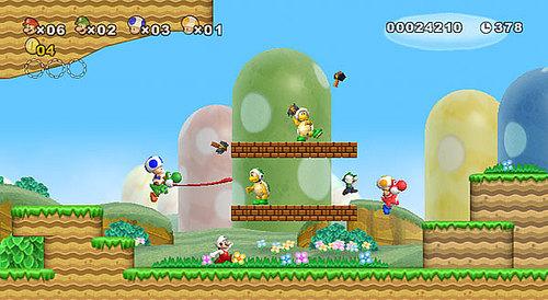 【Wii】任天堂世界级名作《超级马里奥(Super Mario)》正统续作重回家用机