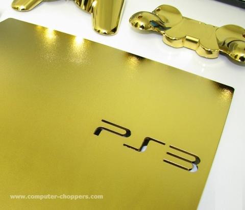 【PS3】24K金打造并且镶嵌钻石的超薄PS3主机问世