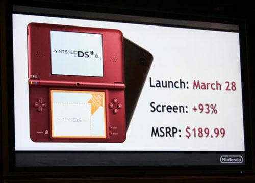 【业界】任天堂DSi XL下月登陆北美市场,售价190美元