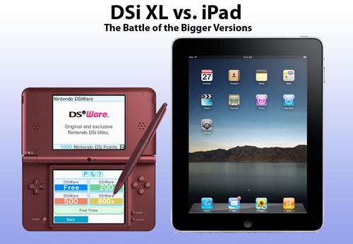 【业界】任天堂DSi XL VS 苹果iPad,巨大屏幕的战争