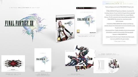 【PS3】《最终幻想13》欧洲限量珍藏版 (Limited Collector's Edition) 宣布