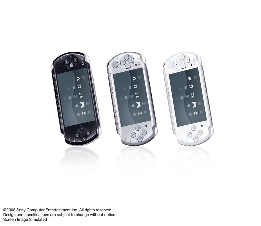 【PSP】10月上市,PSP3000型官方公布清晰大图(钢琴黑/珍珠白/秘银)