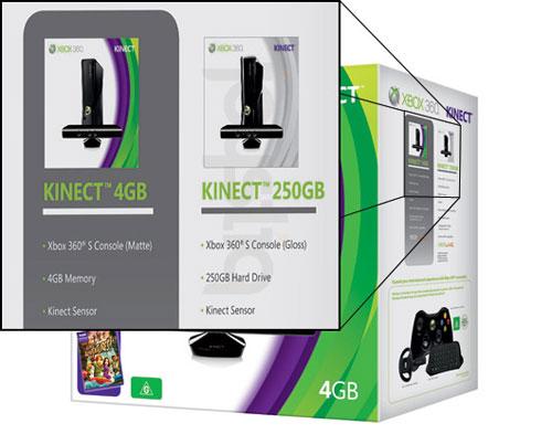 【业界】Kinect同捆版4G/250G Xbox360公开