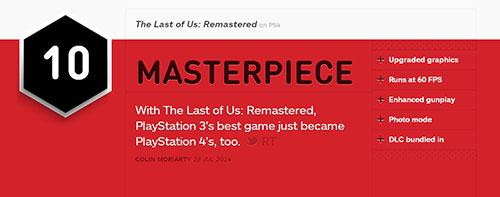 【PS4】《最后生还者 加强版》登录PS4,IGN评分10